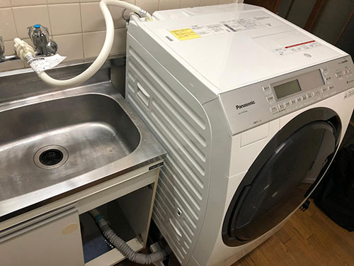 洗濯機の置き場がない